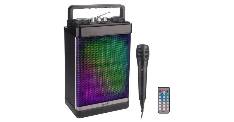 RHM Portable Karaoke Speaker With Microphone