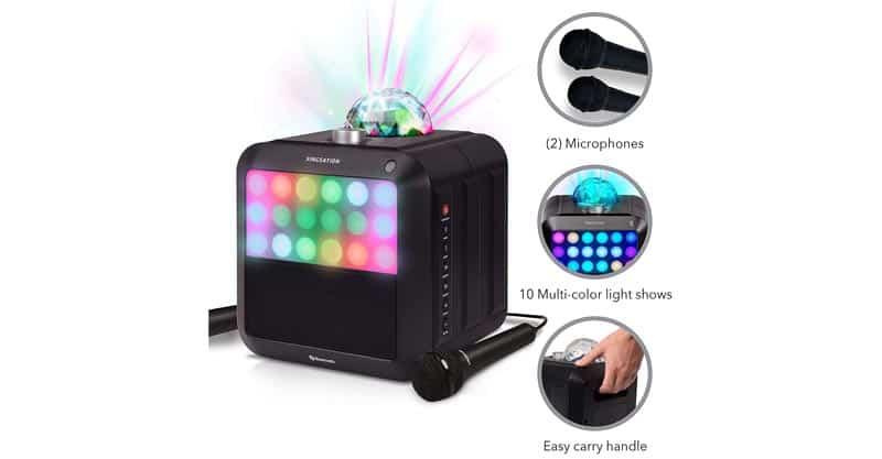 Singsation Star Burst – Portable Karaoke Machine