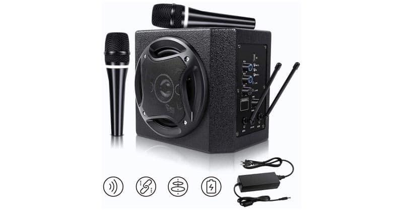 TONOR PA System Karaoke Machine With 50W Bluetooth Powered Speaker
