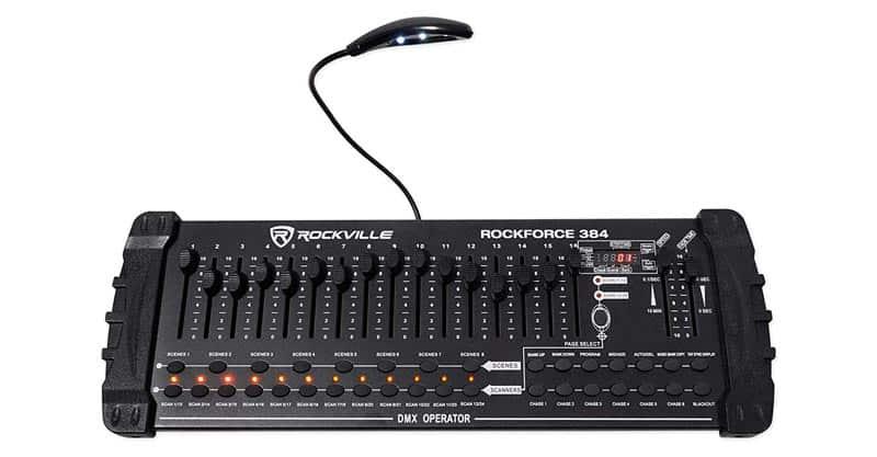 Rockville ROCKFORCE 384 Channel Light/Fog DMX Lighting Controller + MIDI Control