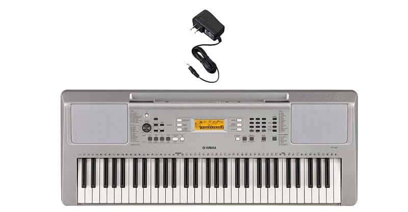 Yamaha YPT360 61-Key Touch-Sensitive Portable Keyboard With Power Adapter