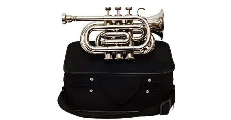 Queen Brass Pocket Trumpet Chrome Finish B-Flat