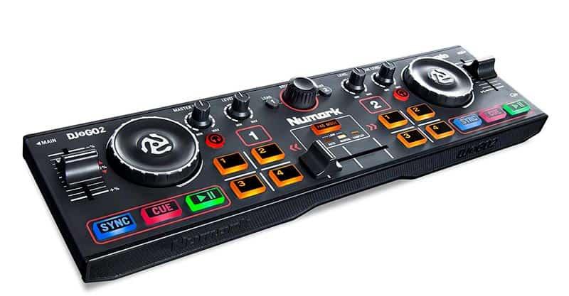 Numark DJ2GO2 | Ultra Portable Two Channel DJ Controller For Serato DJ