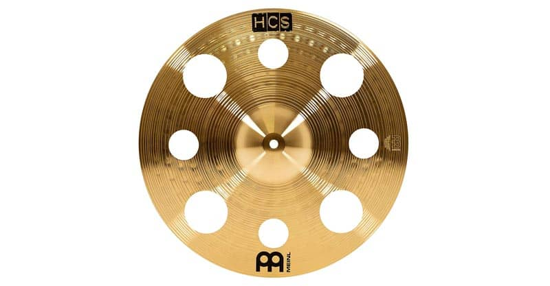 "Meinl 16"" Trash Crash Cymbal With Holes – HCS Traditional Finish Brass For Drum Set (HCS16TRC)"