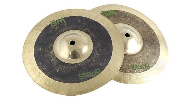 "Stagg BM-HR10 10"" Black Metal Rock Hi-Hat Cymbals"