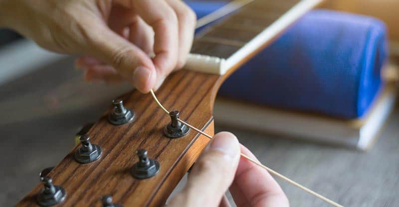 Guitar restringing tutorial