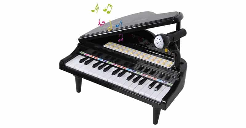 ANTAPRCIS 31 Keys Piano Keyboard Toy With Microphone