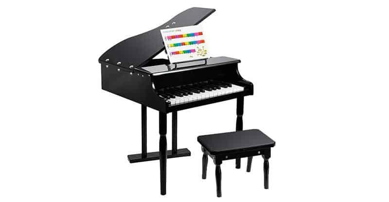 Smartxchioces 30-Key Black Mini Grand Piano