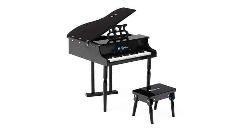 LAGRIMA Classical Kids Piano, 30 Keys Wood Mini Baby Grand Piano