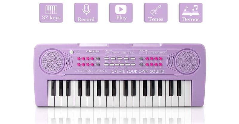 JINRUCHE Kids Piano, 37 Keys Multi-Function Electronic Keyboard Piano