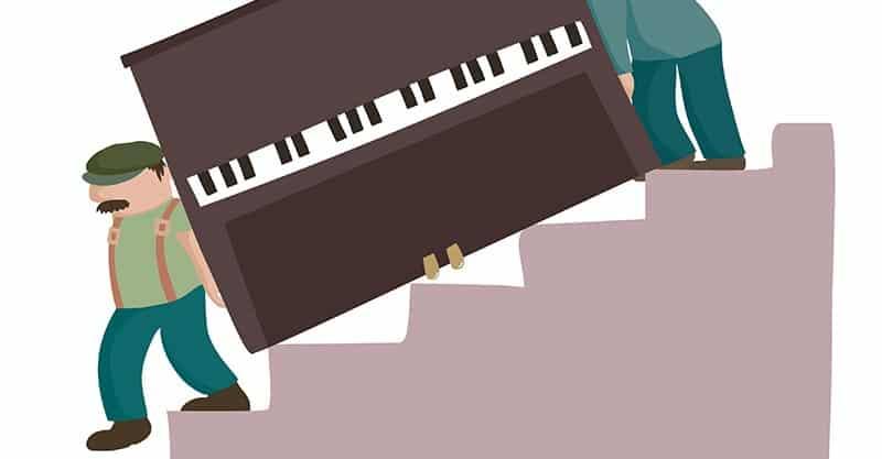 Hire piano movers in America