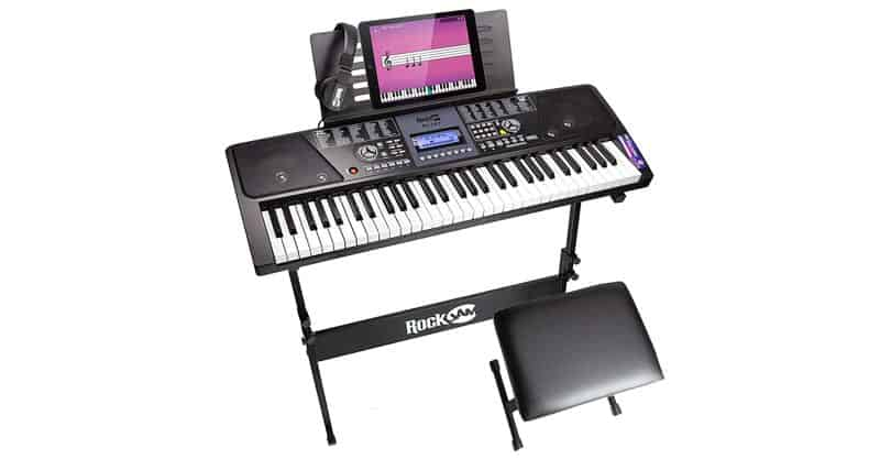 RockJam RJ561 61-Key Electronic Keyboard Piano SuperKit