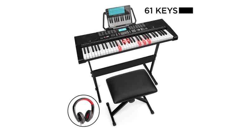 Best Choice Products 61-Key Beginner Complete Electronic Piano Set