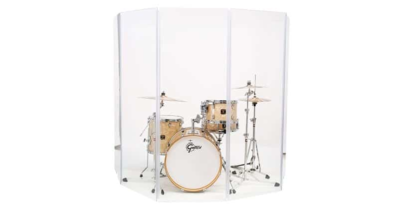 Drum Shield DS4 5 Panels 2 Fee x 5 Feet Chrome Hinges