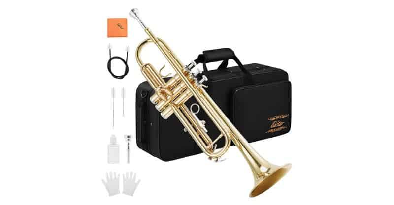 Eastar ETR-380 Gold Trumpet Brass Standard Bb Trumpet Set