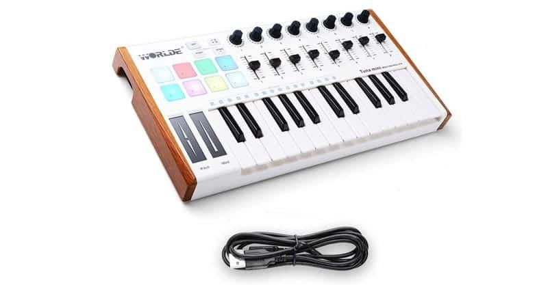 Worlde TUNA MINI 25 Key USB Portable Mini MIDI Keyboard Controller