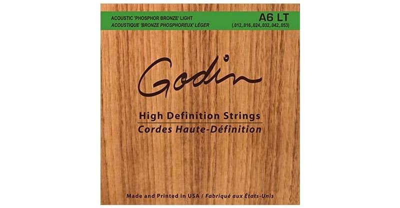 Godin Guitars 008995 Seagull A6 LT Phosphor Bronze Acoustic Guitar Strings