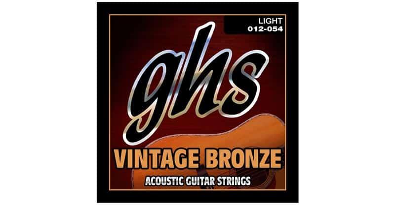 GHS Strings VN-L Vintage Bronze Acoustic Guitar Strings