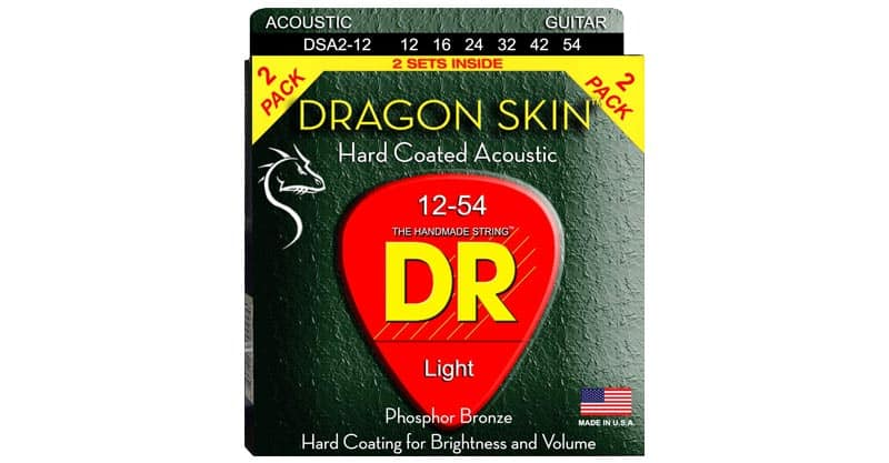 DR Strings DSA-2/12 DRAGON SKIN Acoustic Guitar Strings