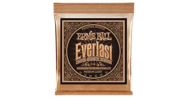 Ernie Ball Everlast P02546 Medium Light Coated Phosphor Bronze Acoustic Guitar Strings