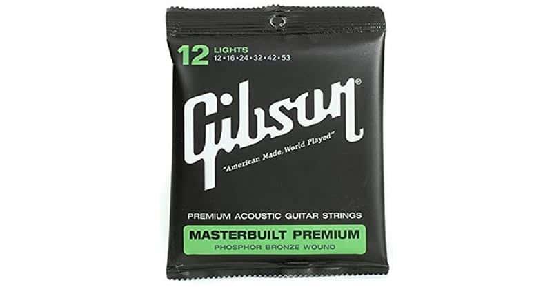 Gibson Masterbuilt Premium Phosphor Bronze Acoustic Guitar Strings