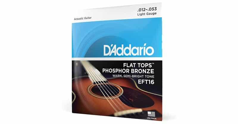D'Addario EFT16 Flat Tops Phosphor Bronze Acoustic Guitar Strings