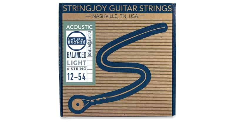 Stringjoy NB1254 Natural Bronze Acoustic Guitar Strings