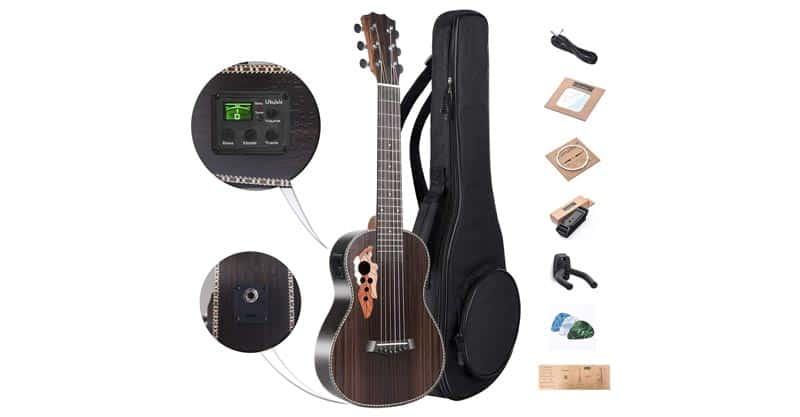 Caramel CB500G 30 Inch Rosewood Baritone Acoustic-Electric Guitalele