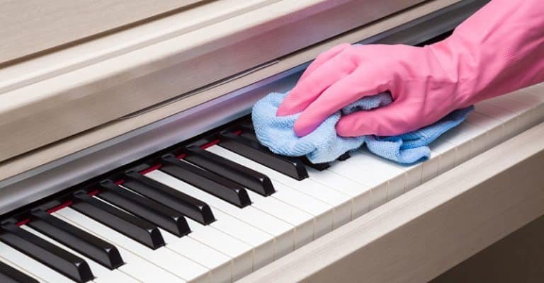 How To Clean A Piano, The Best Way To Get Rid Of Fingerprints On The Keys