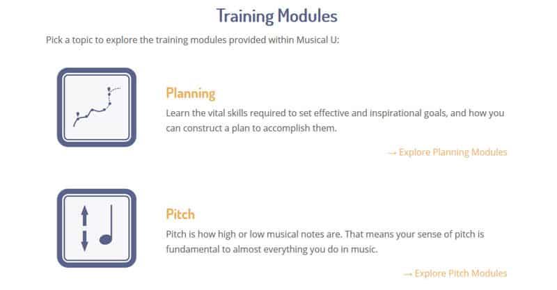 Musical U training modules