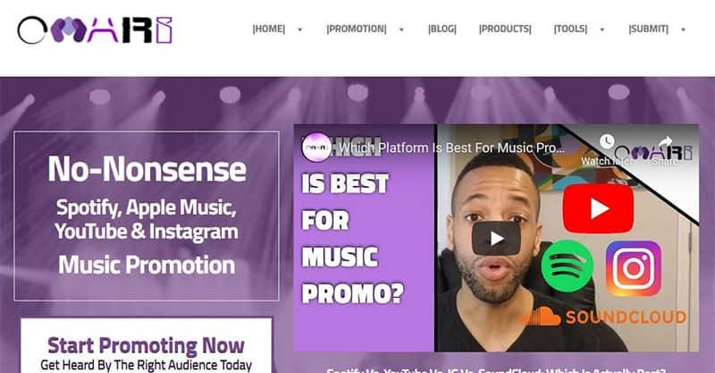 Omari MC music marketing services