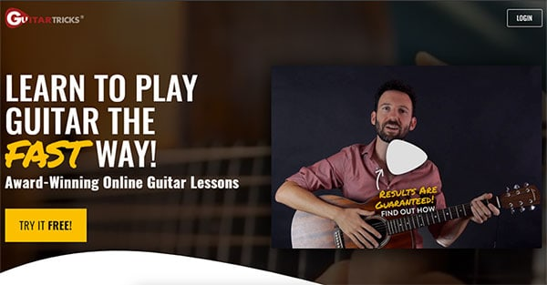 Guitar Tricks resources page