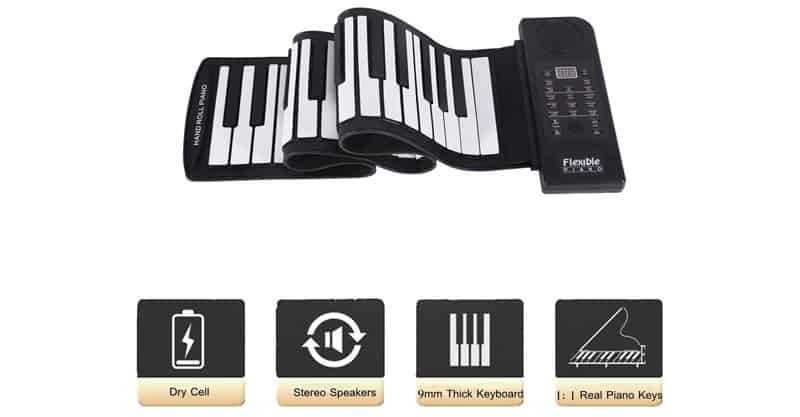 fosa Portable 61-Key Roll Up Piano
