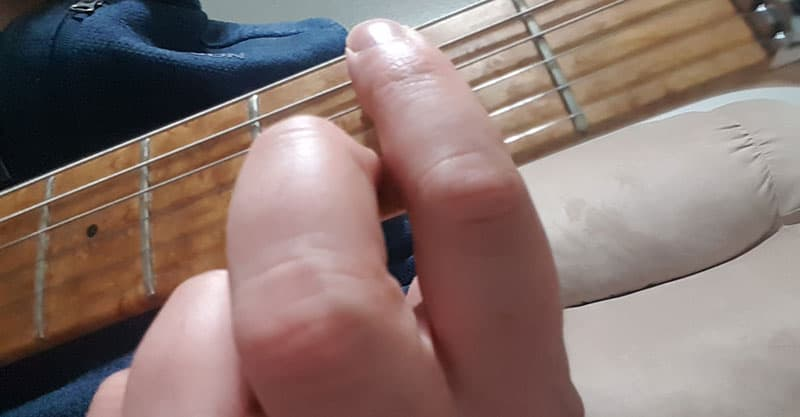 Bm chord, step 2
