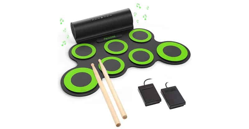 PAXCESS Electronic Drum Set, Roll Up Drum Practice Pad