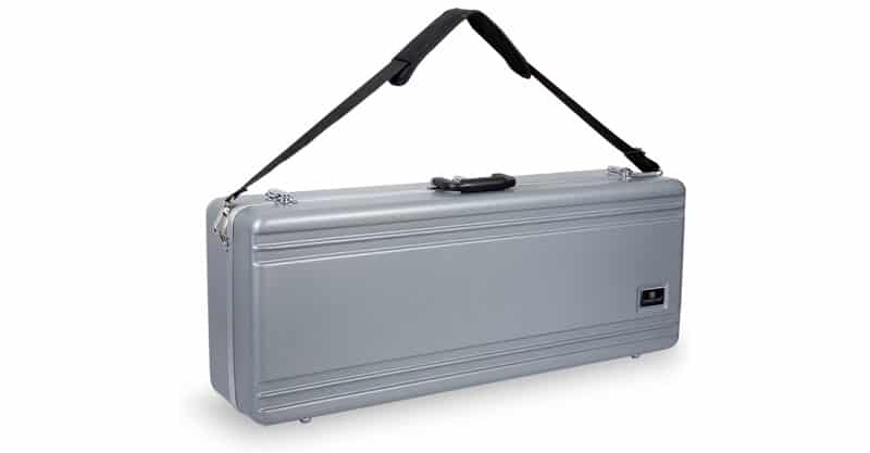 Crossrock CRA860TSSL-R Tenor Saxophone Case – Rectangular ABS Molded With Single Shoulder Strap