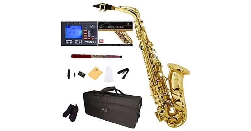 Mendini By Cecilio Eb Alto Saxophone MAS-L+92D+PB
