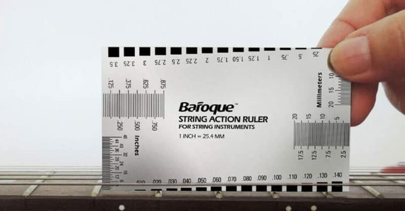 Baroque String Action Ruler Gauge