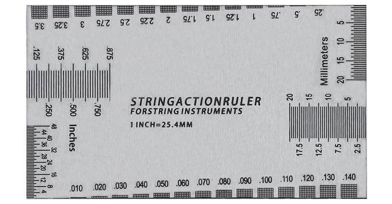 Simtyso Guitar String Action Ruler Gauge Tool