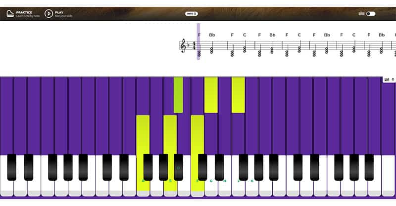 Another good piano learning app is Pianu