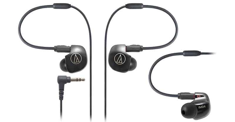 Audio Technica ATH-IM04 SonicPro Balanced In-Ear Monitor Headphones