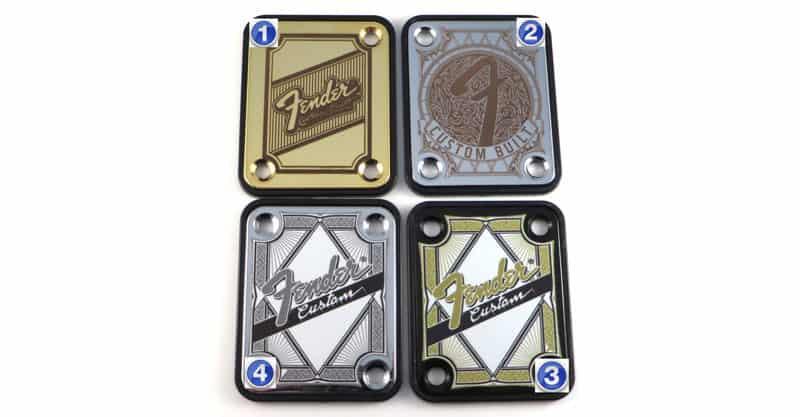 """LazrArt Standard 4 Bolt """"Custom Built"""" Engraved Or Printed Guitar Neck Plate"""