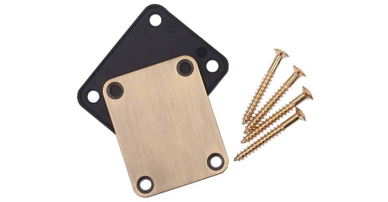 Milisten 2 Electric Guitar Neck Plates Start Tele Jazz Bass Replacement Parts