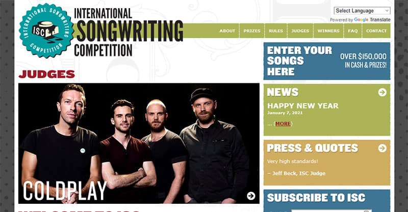 Win prizes writing songs