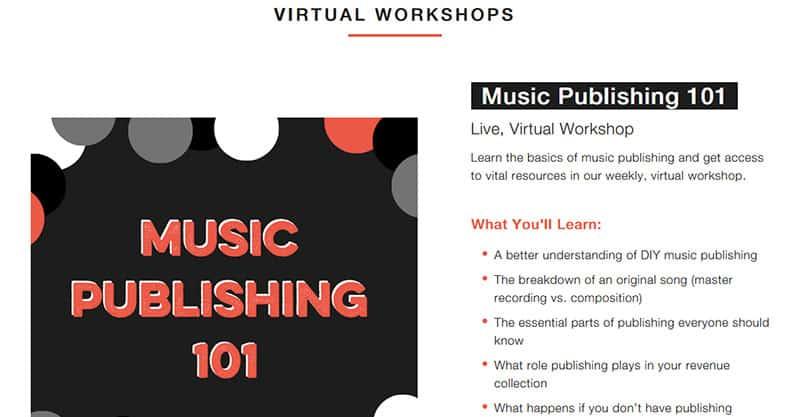 Music publishing basics