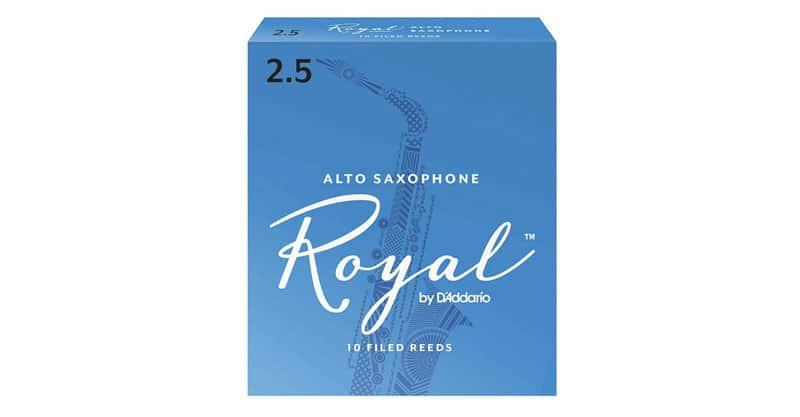 D'Addario Royal Alto Sax Reeds, Strength 2.5, 10-Pack