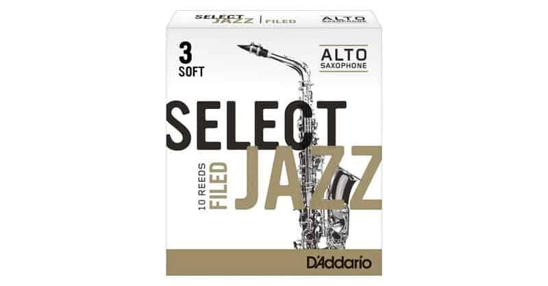 D'Addario Rico Select Jazz Alto Sax Reeds, Filed, Strength 3 Soft