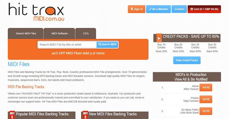 Hit Trax Midi Files