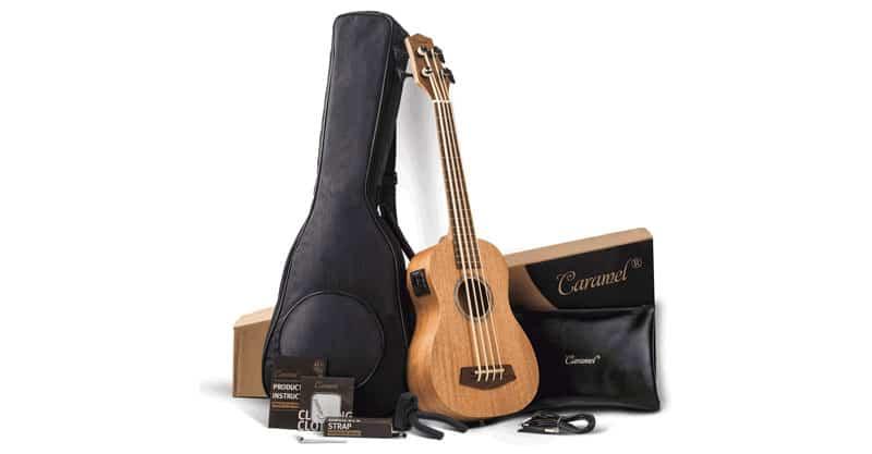 Caramel CUB402 Electric All Solid Mahogany Ukulele Bass