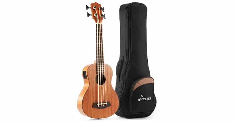 Donner DUB-1 Acoustic Electric Bass Ukulele Mahogany Body With Gig Bag